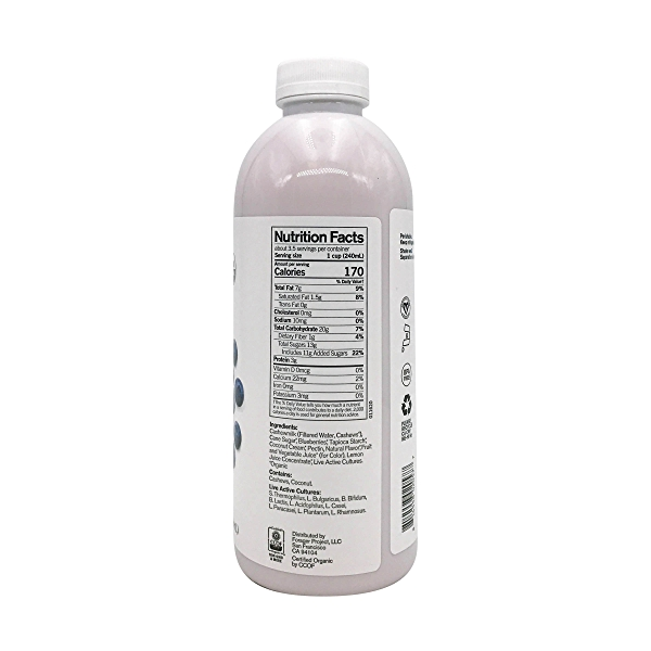 Organic Dairy-Free Blueberry Probiotic Drinkable Cashewmilk Yogurt, 28 fl oz 5