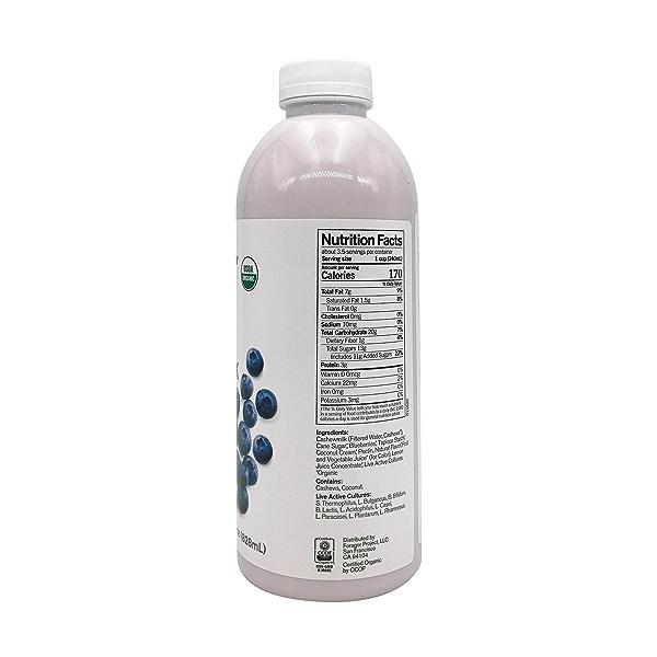 Organic Dairy-Free Blueberry Probiotic Drinkable Cashewmilk Yogurt, 28 fl oz 4