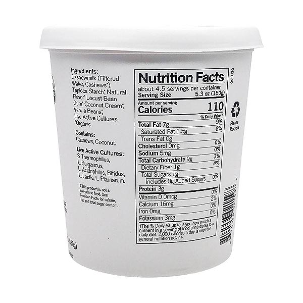 Organic Unsweetened Vanilla Bean Cashewmilk Yogurt, 24 oz 4