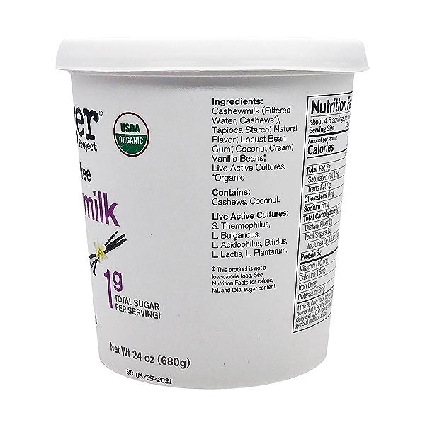Organic Unsweetened Vanilla Bean Cashewmilk Yogurt, 24 oz 3