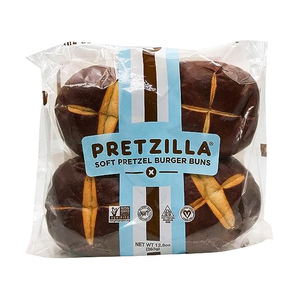 Soft Pretzel Burger Buns, 12.8 oz 1