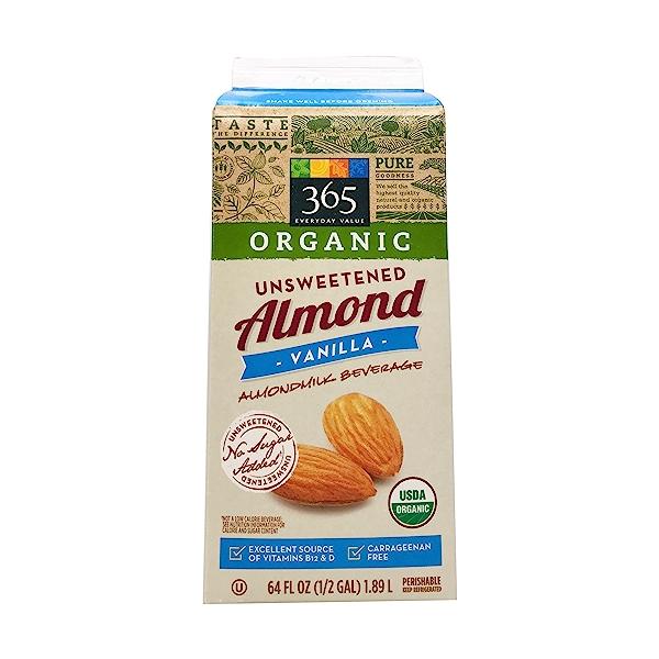 Organic Unsweetened Vanilla Almondmilk (64 Fl Oz) 3