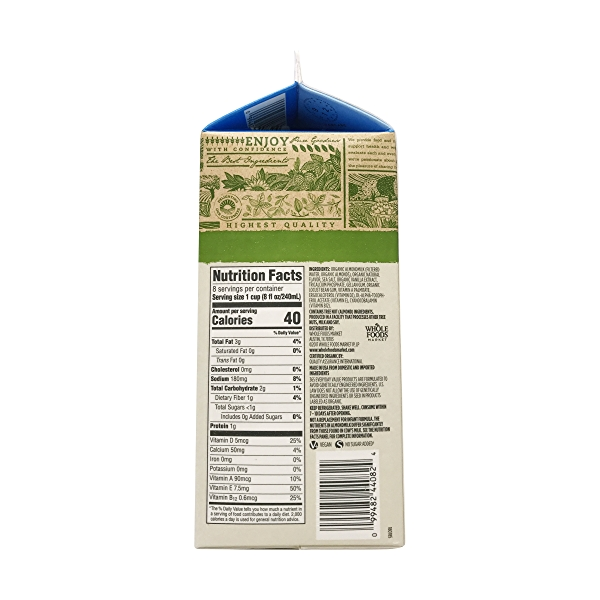 Organic Unsweetened Vanilla Almondmilk (64 Fl Oz) 2