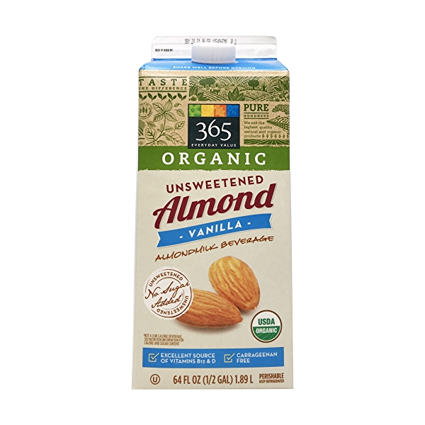 Organic Unsweetened Vanilla Almondmilk (64 Fl Oz) 1