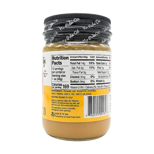Organic Creamy Cashew Butter, 12 oz 2