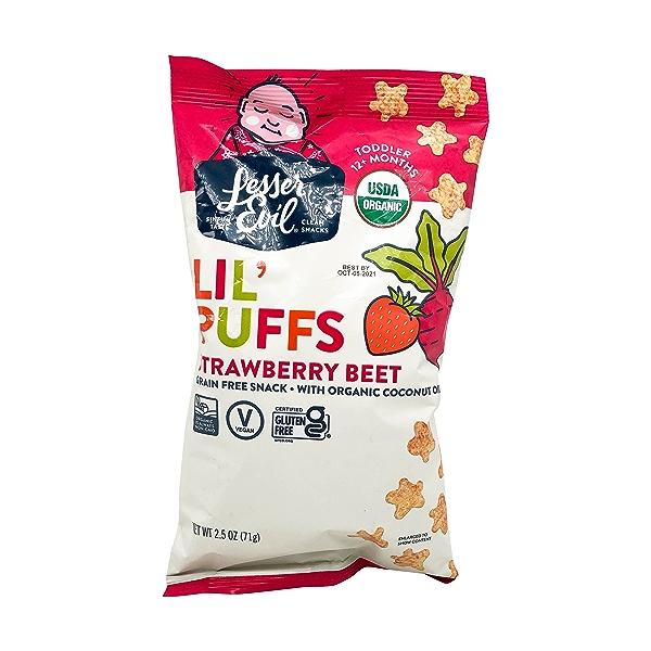 Strawberry Beet Lil Puffs, 2.5 oz 1