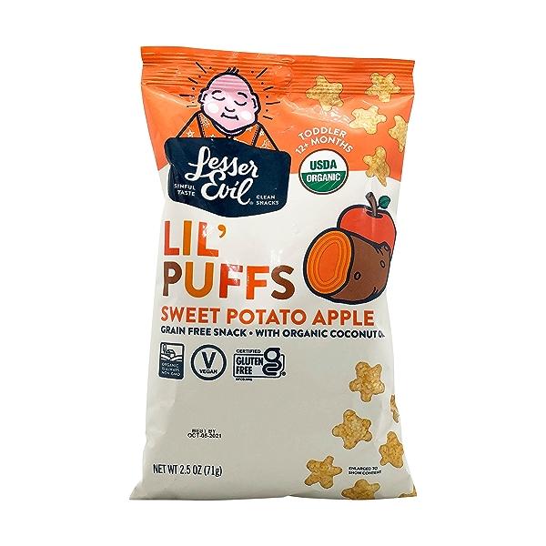 Sweet Potato Apple Lil Puffs, 2.5 oz 1