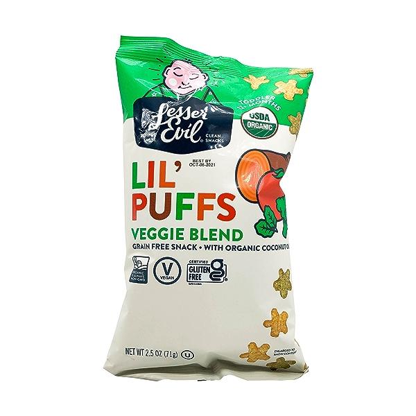 Veggie Lil Puffs, 2.5 oz 1