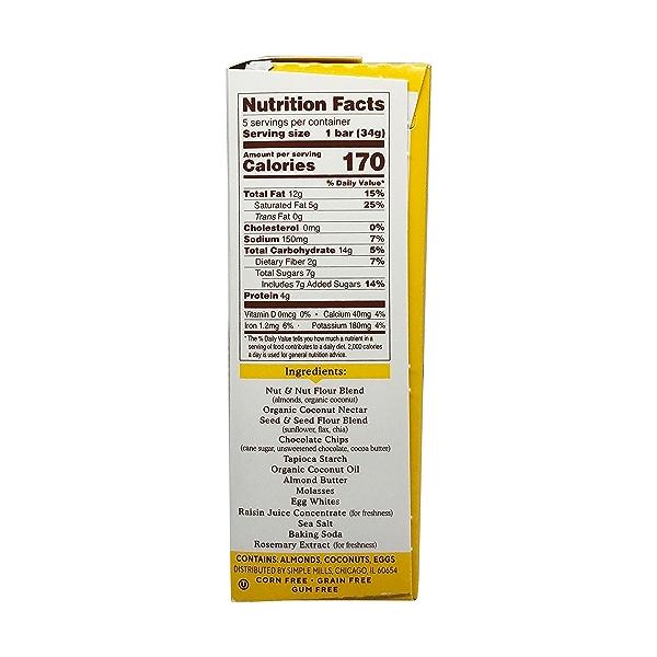 Dark Chocolate Almond Soft-baked Almond Flour Bars 5ct, 1.19 oz 2