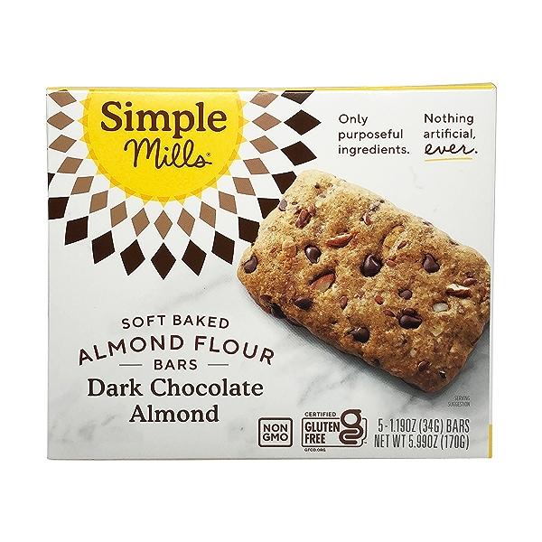 Dark Chocolate Almond Soft-baked Almond Flour Bars 5ct, 1.19 oz 1