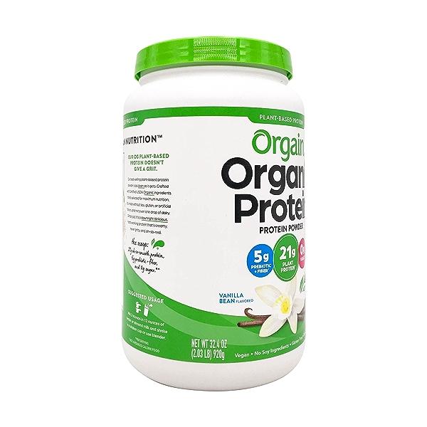 Sweet Vanilla Bean Organic Plant Based Protein Powder, 32.4 oz 8
