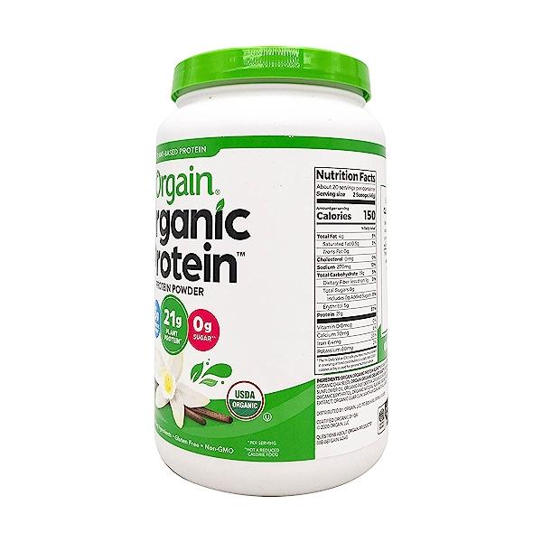 Sweet Vanilla Bean Organic Plant Based Protein Powder, 32.4 oz 2