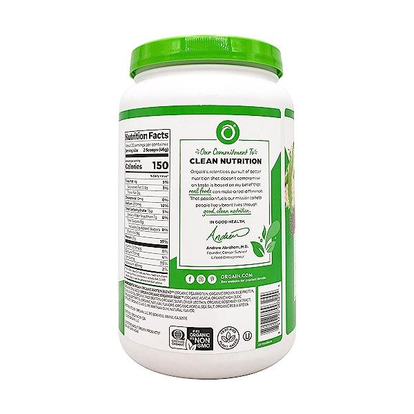 Sweet Vanilla Bean Organic Plant Based Protein Powder, 32.4 oz 4