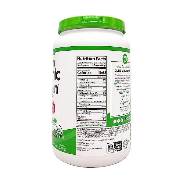 Sweet Vanilla Bean Organic Plant Based Protein Powder, 32.4 oz 3