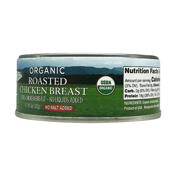 Organic Roasted Chicken Breast - No Salt Added, 5 oz 2