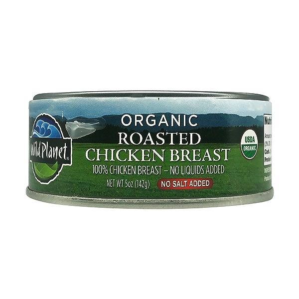Organic Roasted Chicken Breast - No Salt Added, 5 oz 1