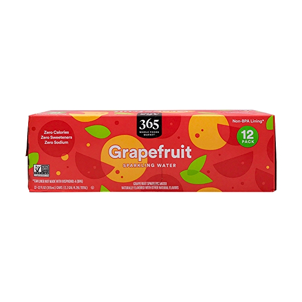 Grapefruit Sparkling Water, 12 fl oz 5