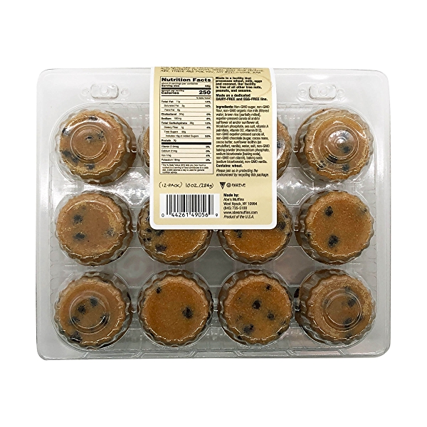 Vegan Chocolate Chip Cookie Mini Muffins (12 Pk), 10 oz 2