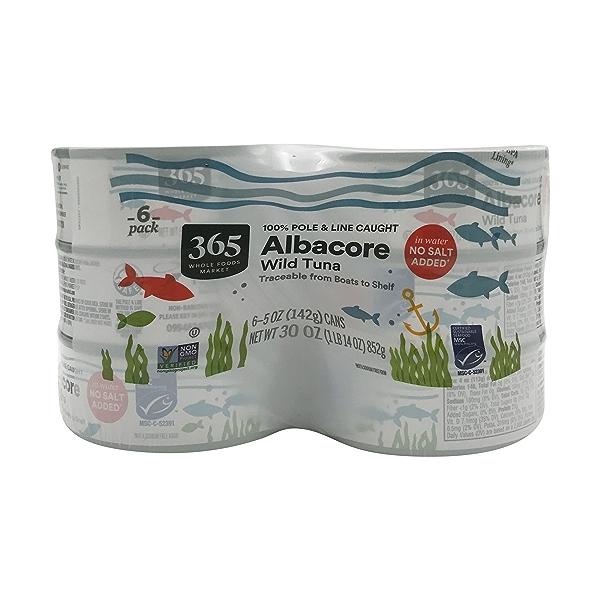 Albacore Tuna In Water No Salt, 5 oz 1
