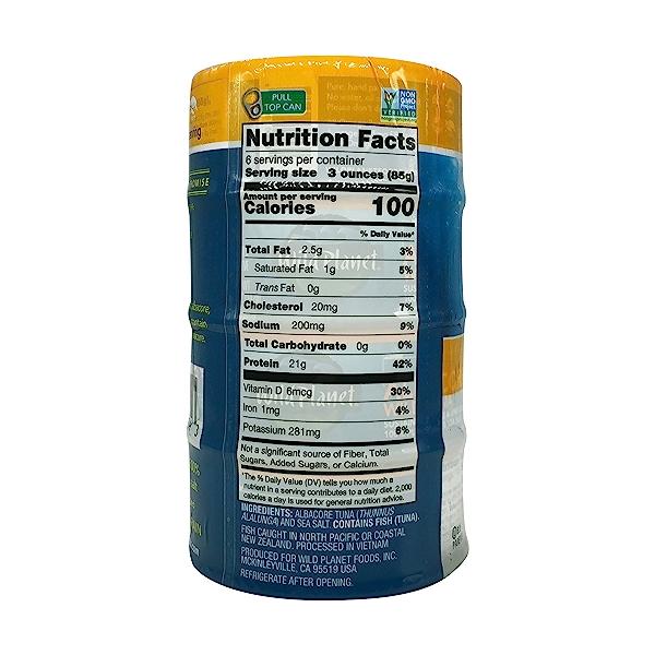 Wild Albacore Tuna 4ct, 0.8 oz cans 6