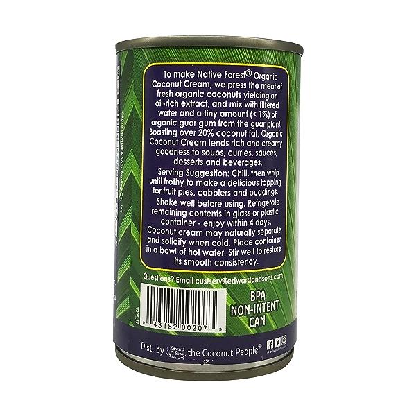 Unsweetened Organic  Coconut Cream, 5.4 fl oz 6