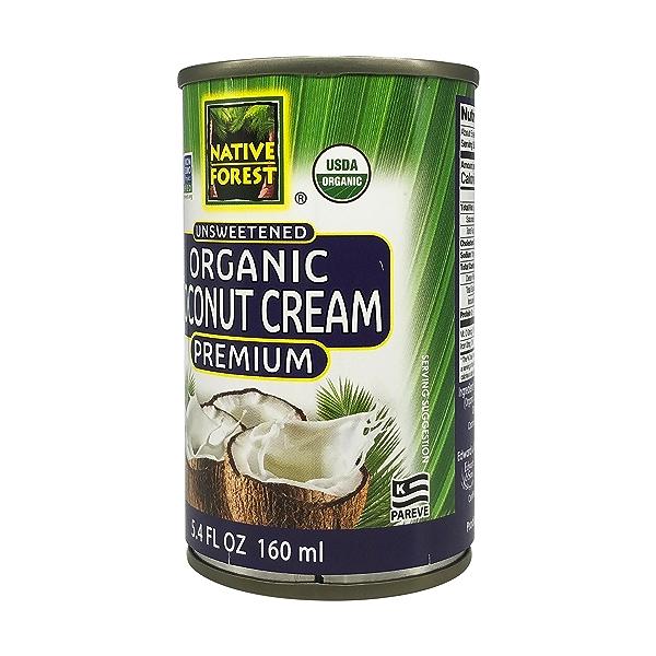 Unsweetened Organic  Coconut Cream, 5.4 fl oz 2