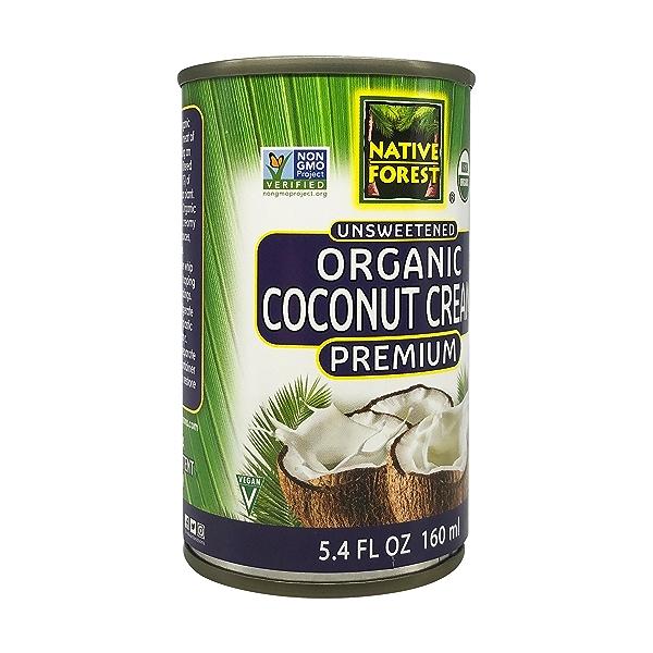 Unsweetened Organic  Coconut Cream, 5.4 fl oz 8