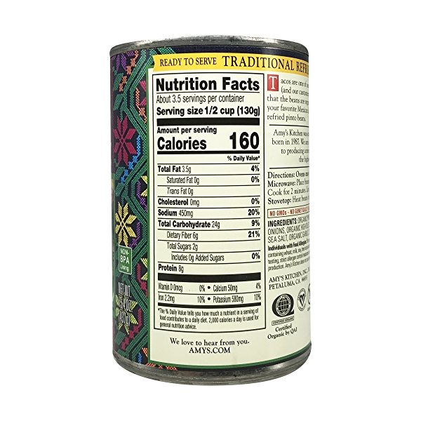 Organic Traditional Refried Beans, 15.4 oz 4