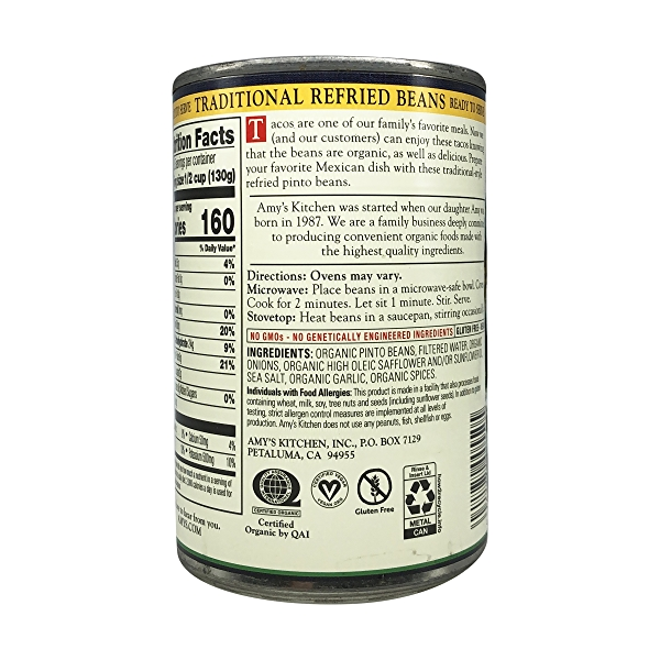 Organic Traditional Refried Beans, 15.4 oz 5