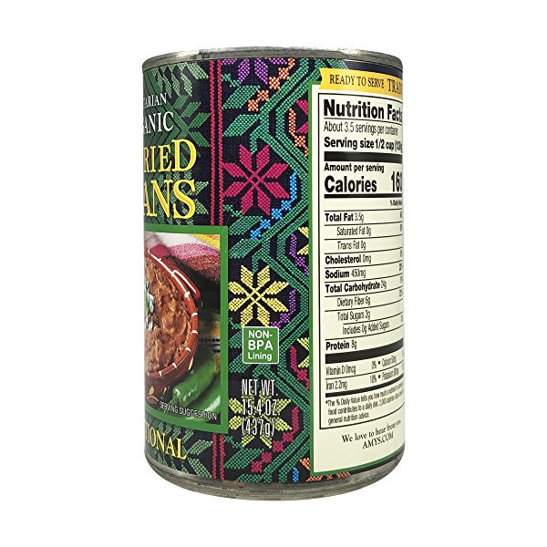 Organic Traditional Refried Beans, 15.4 oz 3