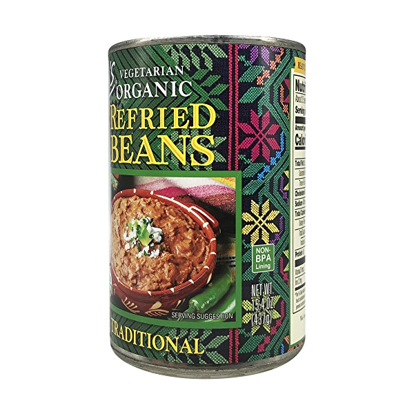 Organic Traditional Refried Beans, 15.4 oz 2