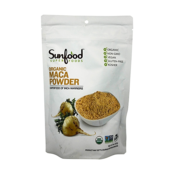 Sunfood Raw Organic Maca Powder, 8 oz 1