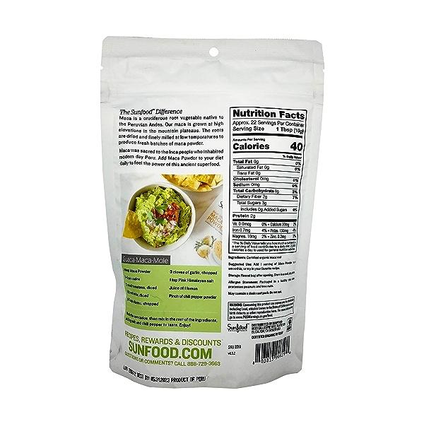 Sunfood Raw Organic Maca Powder, 8 oz 3