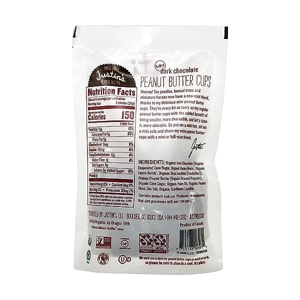 Organic Mini Dark Chocolate Peanut Butter Cups, 4.7 oz 3