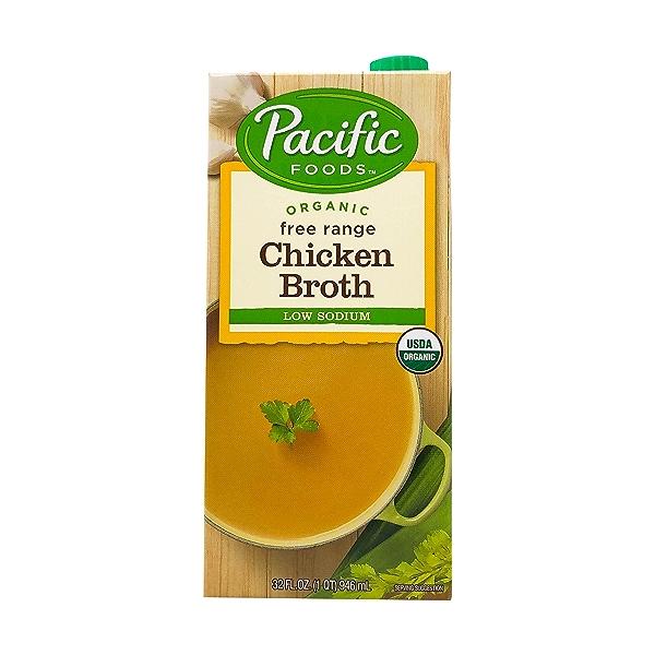 Organic Low Sodium Free Range Chicken Broth, 32 fl oz 1