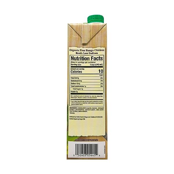 Organic Low Sodium Free Range Chicken Broth, 32 fl oz 2