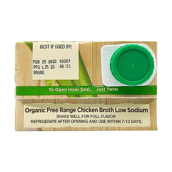 Organic Low Sodium Free Range Chicken Broth, 32 fl oz 5