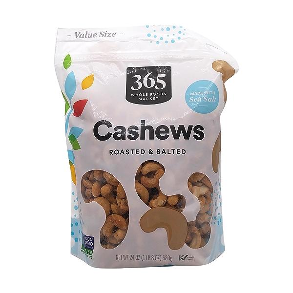 Roasted & Salted Cashews, 24 oz 1
