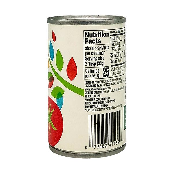 Tomato Paste, Organic, No Salt Added, 6 Oz. 4