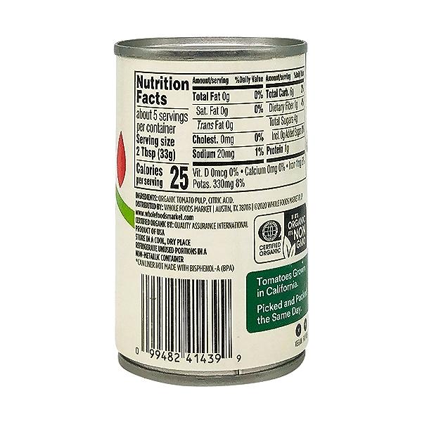 Tomato Paste, Organic, No Salt Added, 6 Oz. 5