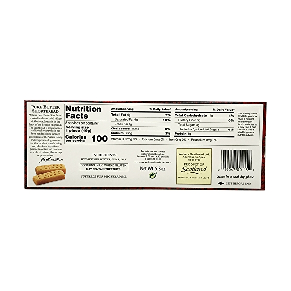 Pure Butter Shortbread, 5.3 oz 3