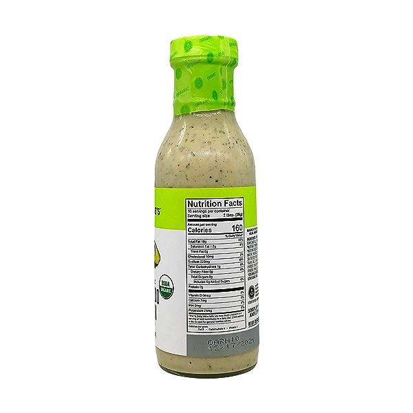 Organic Avocado Ranch Dressing, 10 fl oz 3