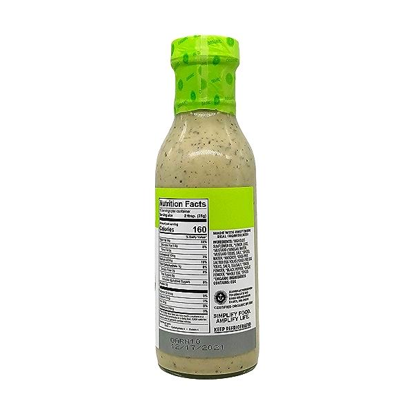 Organic Avocado Ranch Dressing, 10 fl oz 4