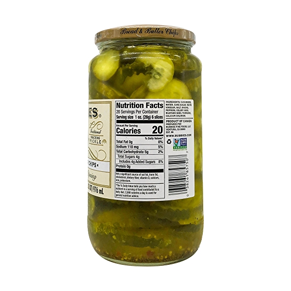 Bread And Butter Chips Pickles, 33 fl oz 3
