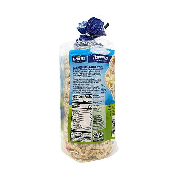 Organic Lightly Salted Brown Rice Cakes, 8.5 oz 4