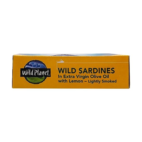 Wild Sardines In Extra Virgin Olive Oil With Lemon, 4.4 oz 6