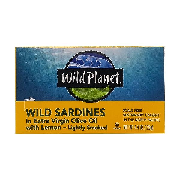 Wild Sardines In Extra Virgin Olive Oil With Lemon, 4.4 oz 1