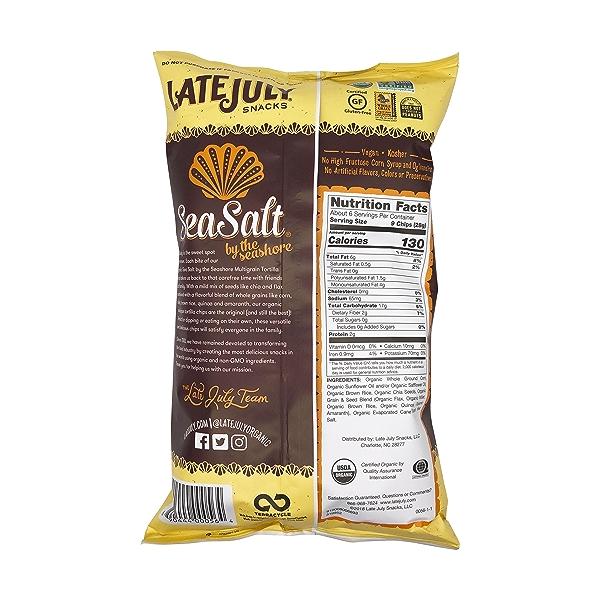 Sea Salt Multigrain Tortilla Chips, 6 oz 2
