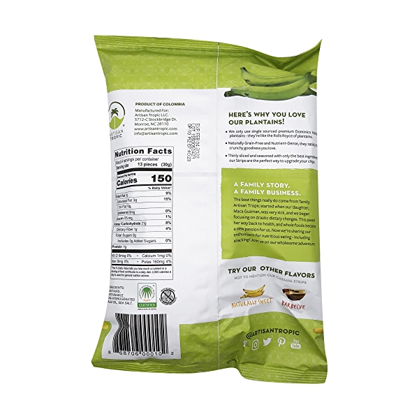Sea Salt Plantain Chips, 4.5 oz 2