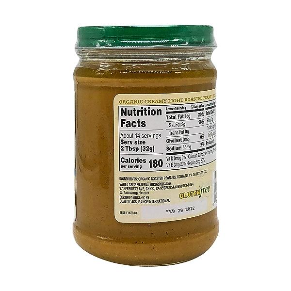 Organic Creamy Light Roasted Peanut Butter, 16 oz 4